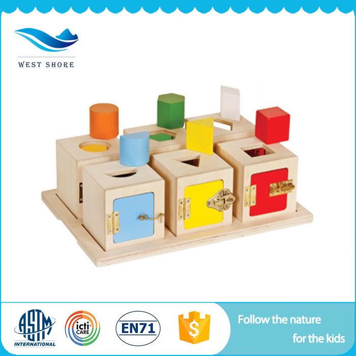 Best Selling Most Popular Products For Kids Wooden Education Materials Child Lock Box