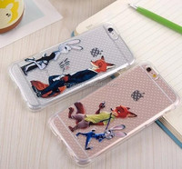 Mobile shell for Apple iPhone 5 TPU clear case;soft rubber gel back cover for iPhone 5 fox custom case
