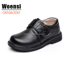new OEM factory quality cheap black no laces children school shoes for boys