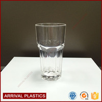 350ml hexagon PC Clear juice Cups plastic tumbler champagne glasses