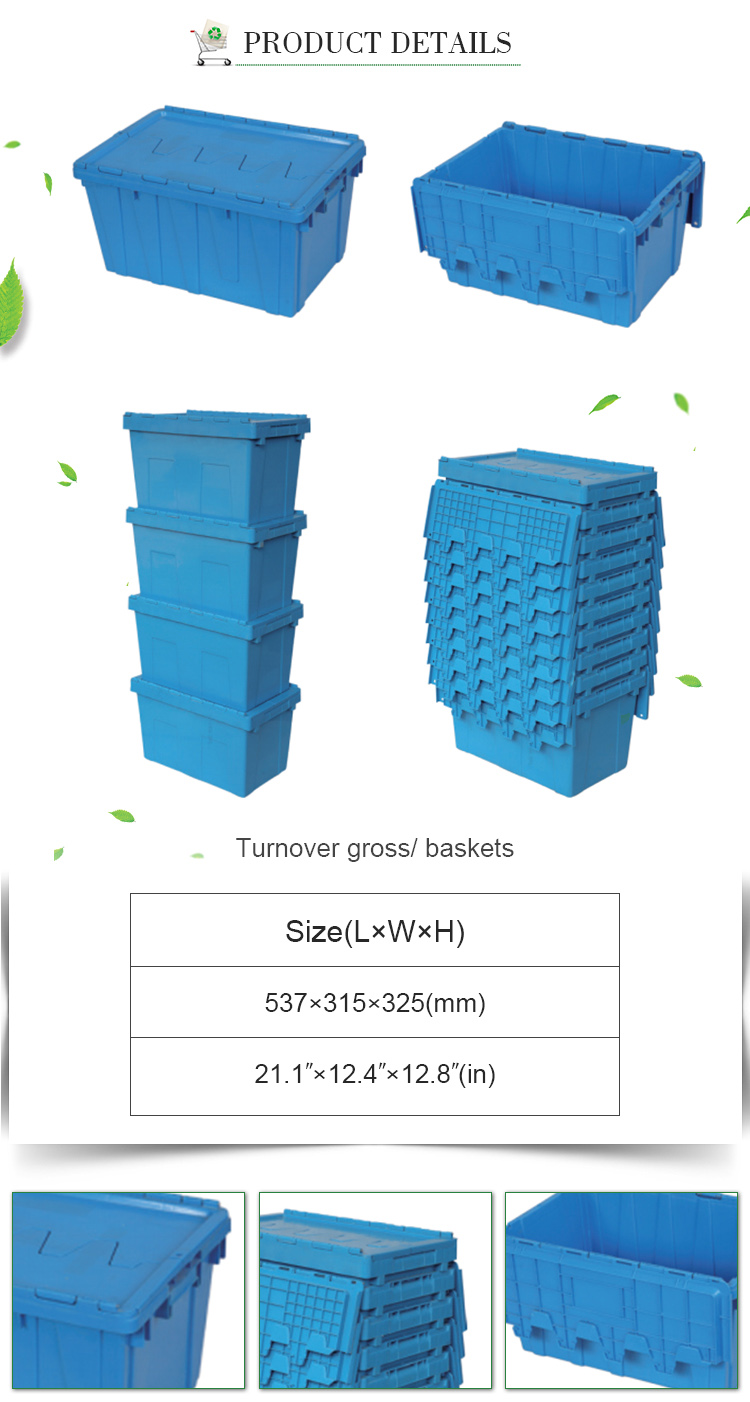 Custom plastic logistic storage crate sale for storage and moving