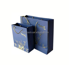 High Quality gold soilver printed shopping paper bag