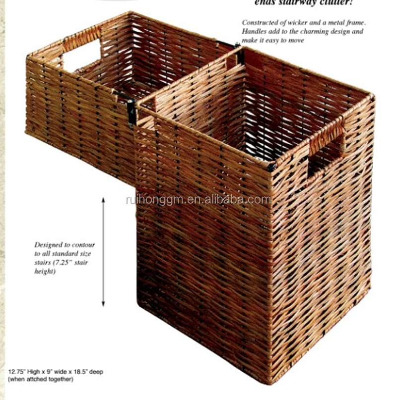 Wholesale Large Willow House Stair Storage Baskets Or Wicker Step ...