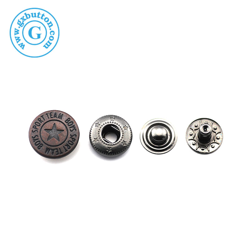 Custom Brand large 8 mm metal jacket snap buttons