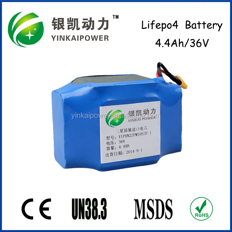 segway battery 36v4.4mah battery rechargeable li-ion battery pack for e-bike