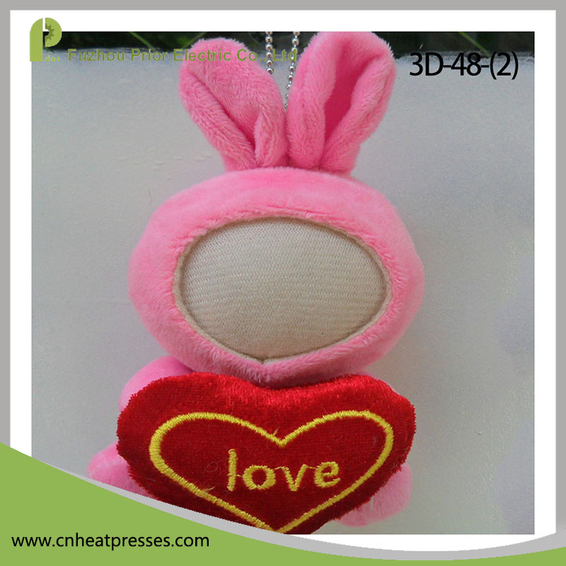 Prior High Quality Customized DIY Photo Pink Rabbit 3D Printer Your Face Doll
