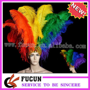 China supplier natural ostrich feather wholesale dyed colored ostrich feathers for wedding and carnival decoration