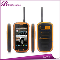 S09 NFC ip68 quad core with PTT nfc reader waterproof handphone