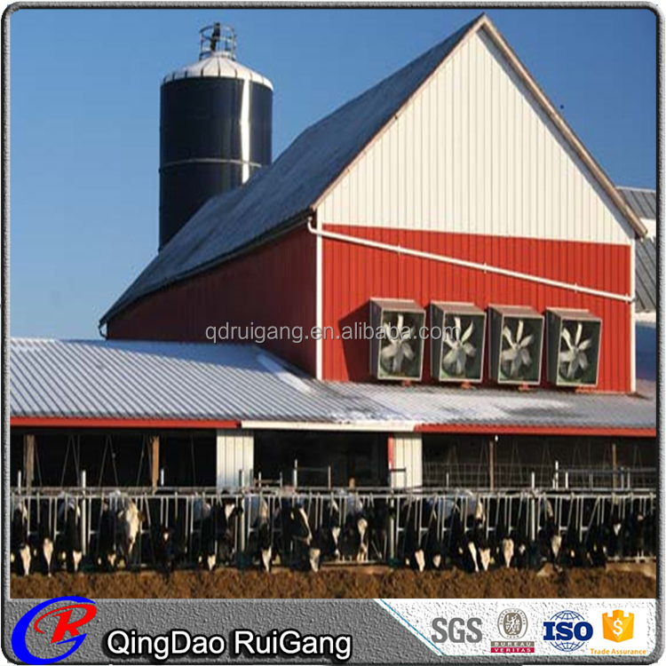 Agricultural Prefabricated Building Prefab Steel Structure Cattle Shed Farm Cow Construction