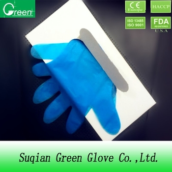 cheap blue disposable TPE/PE/CPE gloves