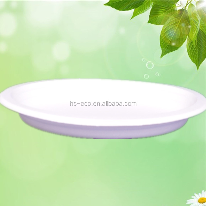 GUARANTEED LOWEST PRICE! Eco-friendly sugarcane biodegradable unbleached disposable party paper plates