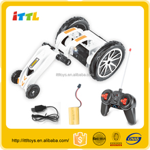 new design 40MHZ 4.8v rc stunt car with music super power rc car kit for kids