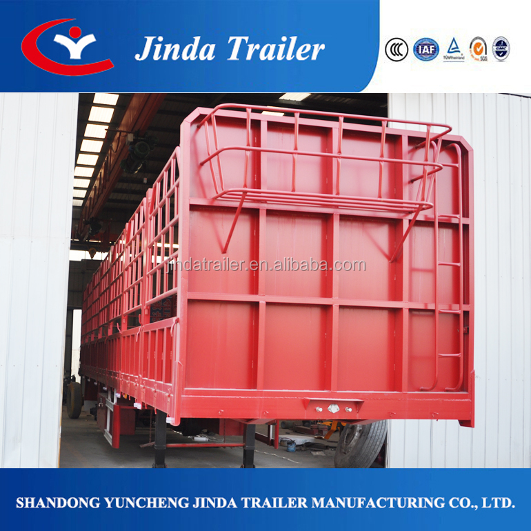 JinDa truck SINOTRUK fence semi trailer for sale/Chinese fence semi trailer