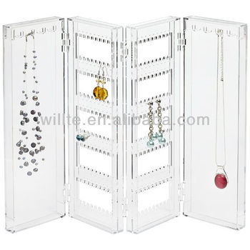 Guangdong factory collapsible clear acrylic jewelry earring display