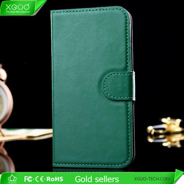 genuine leather flip wallet case for iphone 6