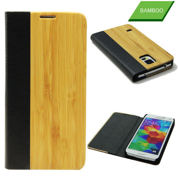 leather bag case for Samsung S5 phone cover