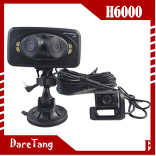 factory direct 2.7 inch 720p with built-in G-sensor 3 lens 360 degree reverse car camera