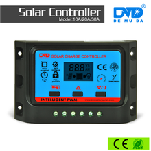intelligent LCD Display 12/24V Auto-detective 10A 20A 30A 40A 50A 60A pwm charge controller for solar panel