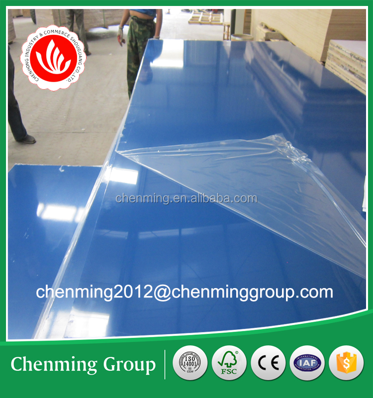 high gloss colorful acrylic mdf for decoration