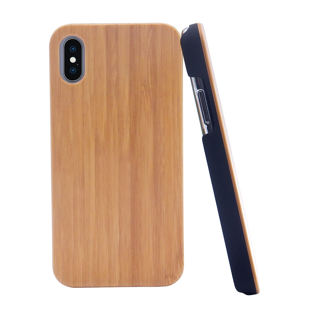 phone case factory offered bamboo wood phone case cover for iphone x