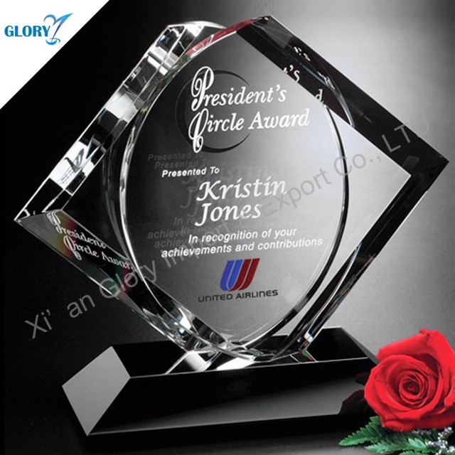 Special Jamaica Crafts Crystal Blank Trophy Plaques