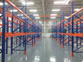 Warehouse storage rack shelving system