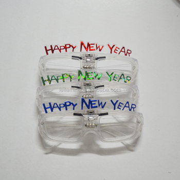 Happy new year glow sound control LED glasses