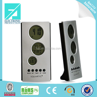 Fupu new cheap eco-friendly silver digital lcd mini clock