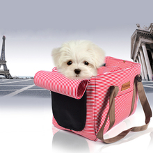 Stripe Cloth Model Dog Pet Travel Bag Cat Carrier with Different Colors