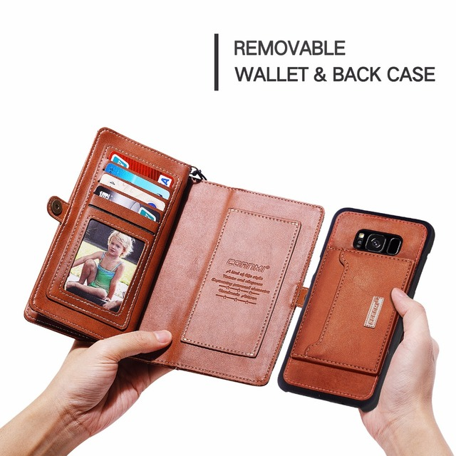 Leather Phone Case For Samsung Galaxy Note 8 Cover Flip PU Leather Houing Outdoor Hook Pouch With Card Pocket 6.32 Inch Purse
