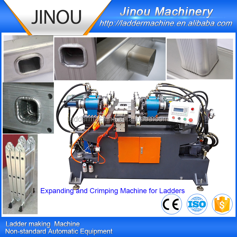 Fully Automatic 3 in 1 Tube Inserting expanding and flaring machine ladder production line