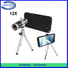 12X Optical Zoom Mobile Phone Telescope Lens with Tripod + Plastic Case for Samsung Galaxy Note II / N7100