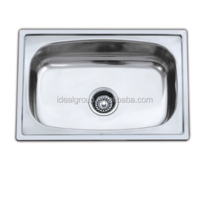 Cheap price simple design stainless steel single bowl kitchen sink