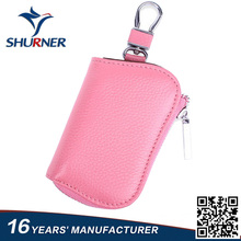 High promotional leather credit card holder chain motorcycle key case