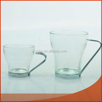 drinking glass cup with handle