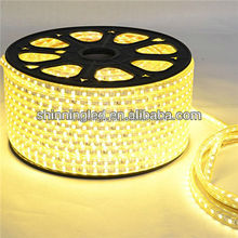 Hot sales decorate IP65 colorful AC120 / 230V 5050smd led strip outdoor