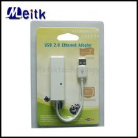 USB 2.0 to 10/100Mbps Ethernet RJ45 Network Lan Card Adapter for Win7/Vista 64