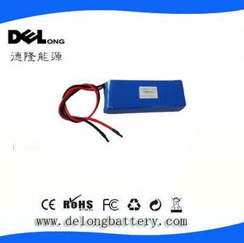 11.1V 4500mah rechargeable Lithium polymer battery pack