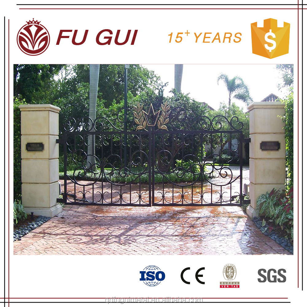 Powder coated hot deep galvanized anticorrosion 100 years folding fence gate