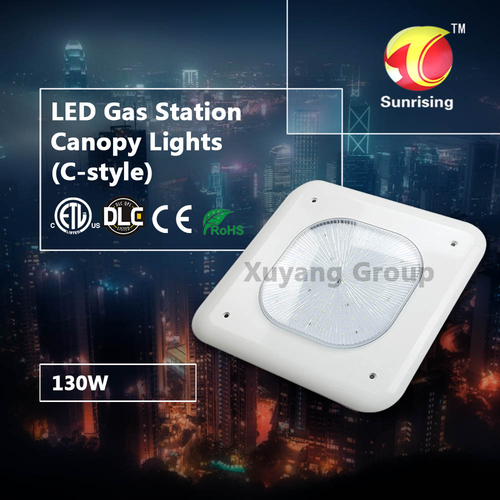 New product energy saving IP65 meanwell bridgelux 130w petrol gas station led canopy lights