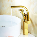 FLG best selling contemporary new product elegance and fashion brass waterfall glass basin faucet