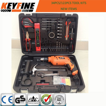 122pcs Household homeuse tools kits IMPACT DRILL TOOL SET