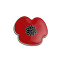 Metal Crafts Custom Cloisonne Enamel Poppy badge/ Poppy lapel pin