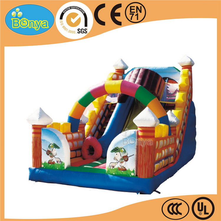 Direct factory price hotsale christmas inflatable dry slide