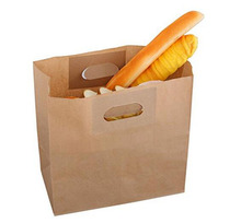 Handles U diecut Natural brown kraft paper bag/grocery bag/bakery paper bag with customized