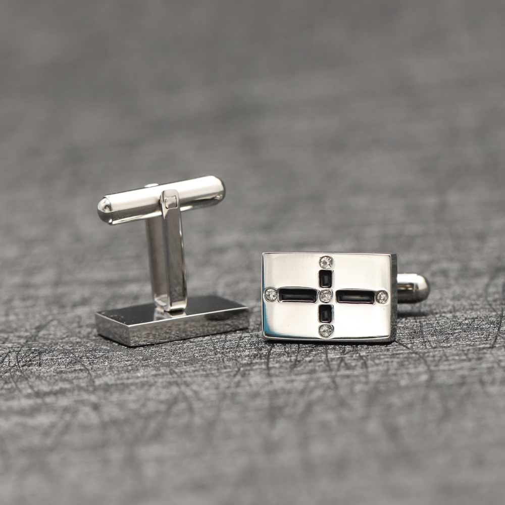 Tie Clips Pin Sets Cuff Link, Masonic Jewelry Maker Men Gift Silver Cufflink