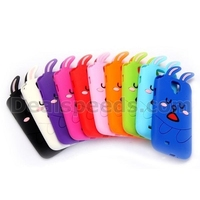 Cute 3D Cartoon Rabbit Silicon Protective Case For Samsung Galaxy S4 i9505 i9508