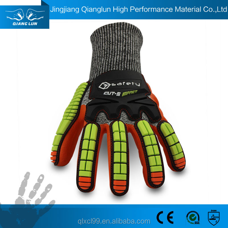 QL durable and fashion motocycle anti vibration gloves