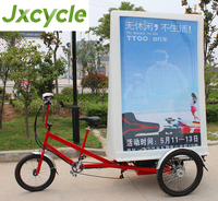 Pedal Advertising Tricycle with LED billboard display