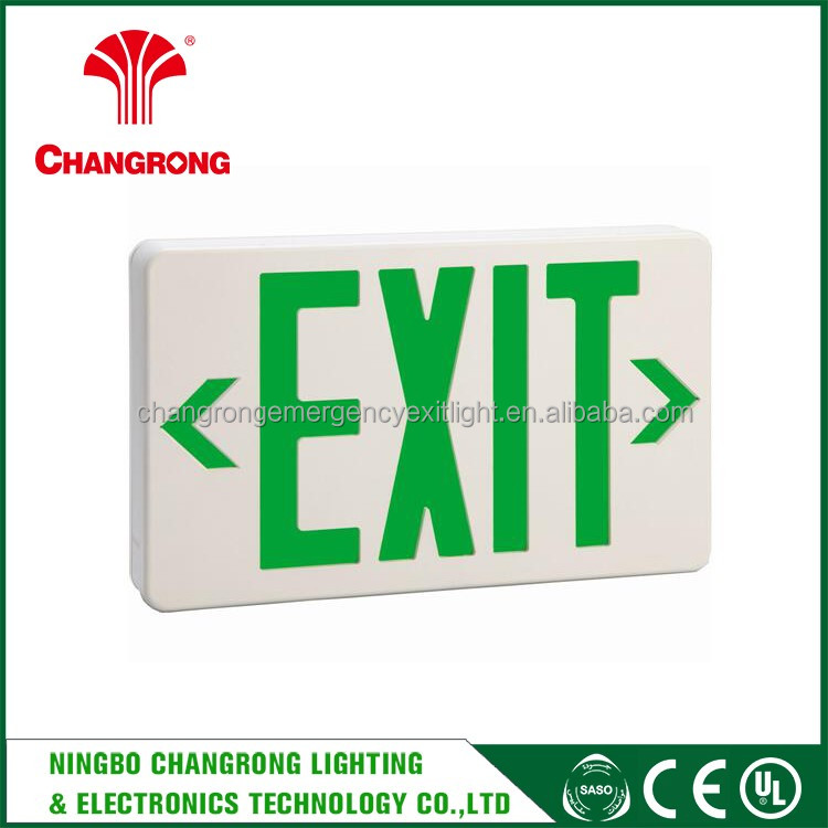 abs exit sign , edge lit led exit sign